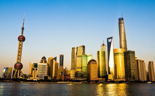 Pudong shanghai china, travel vacation.