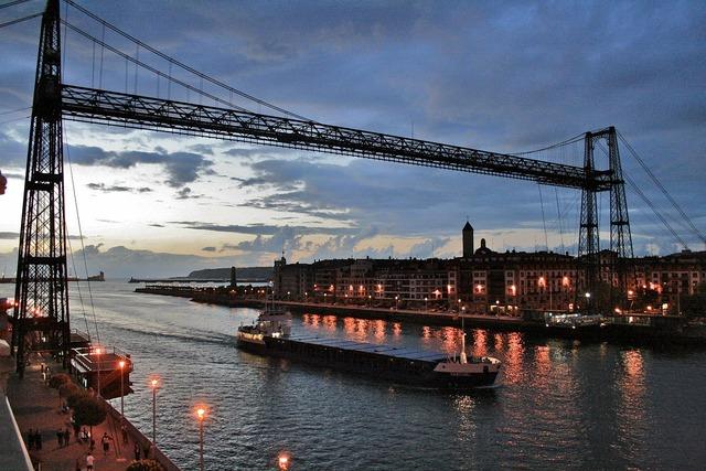 Puente portugalete bilbao vizcaya, architecture buildings.