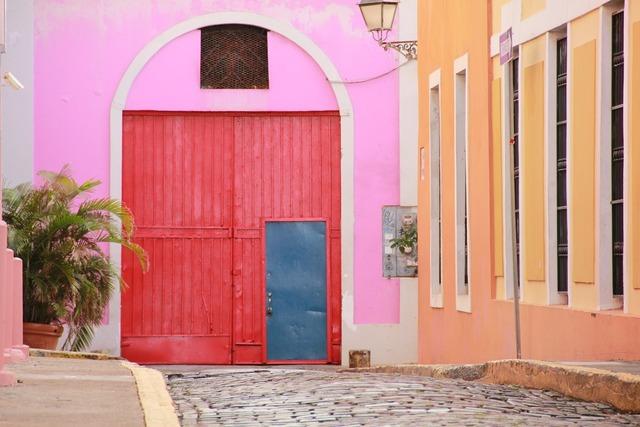 Puerto rico san juan caribbean, architecture buildings.