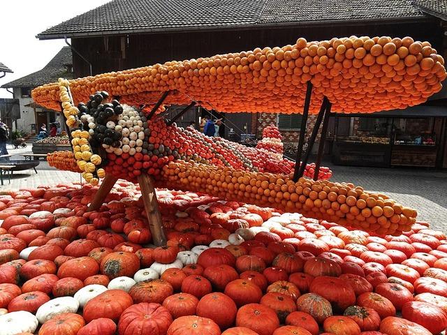 Pumpkin gourd decoration.