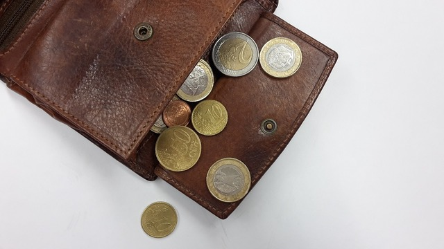 Purse coins money, business finance.