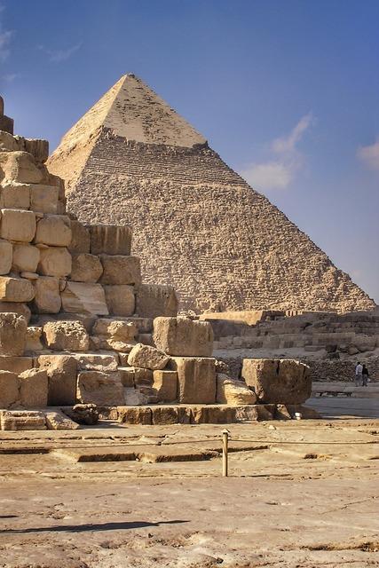 Pyramids giza egypt.