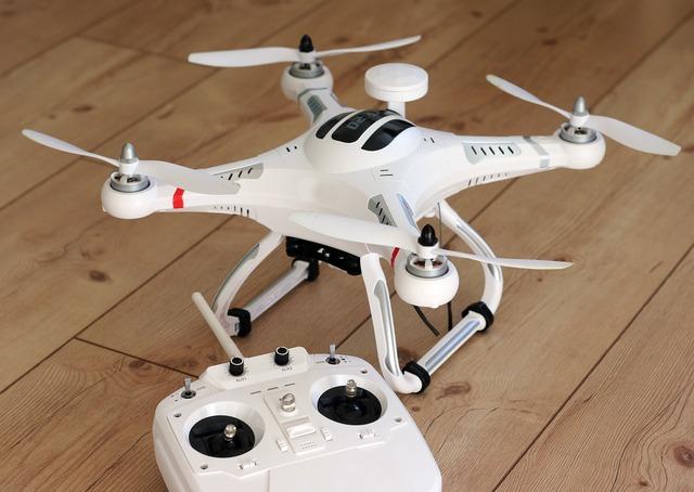 Quadrocopter drone model.
