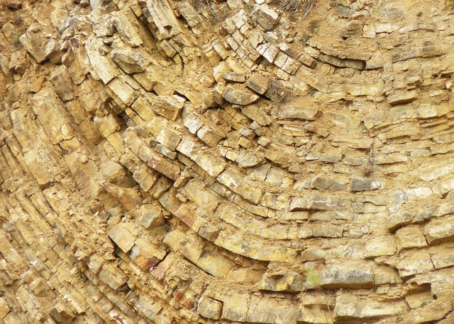 Quarry limestone stones.
