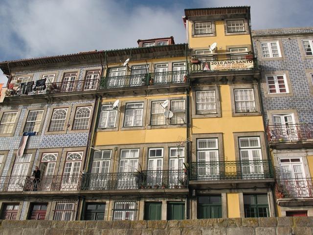 Quay port portugal, architecture buildings.
