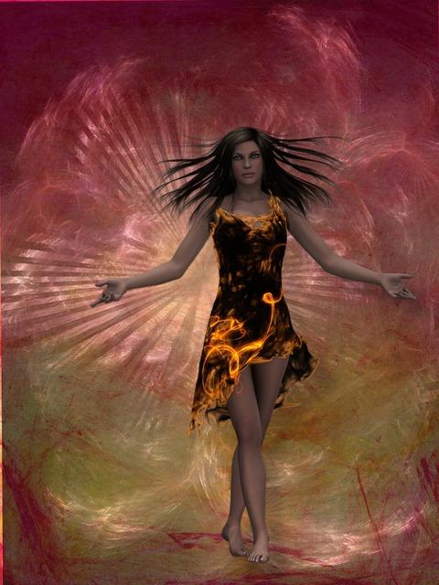 Queen fire woman, beauty fashion.