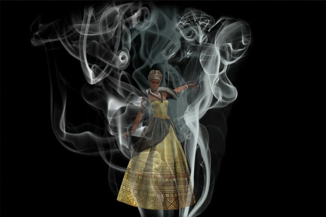 Queen smoke mysterious, nature landscapes.