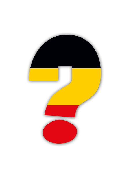 Question mark germany em.