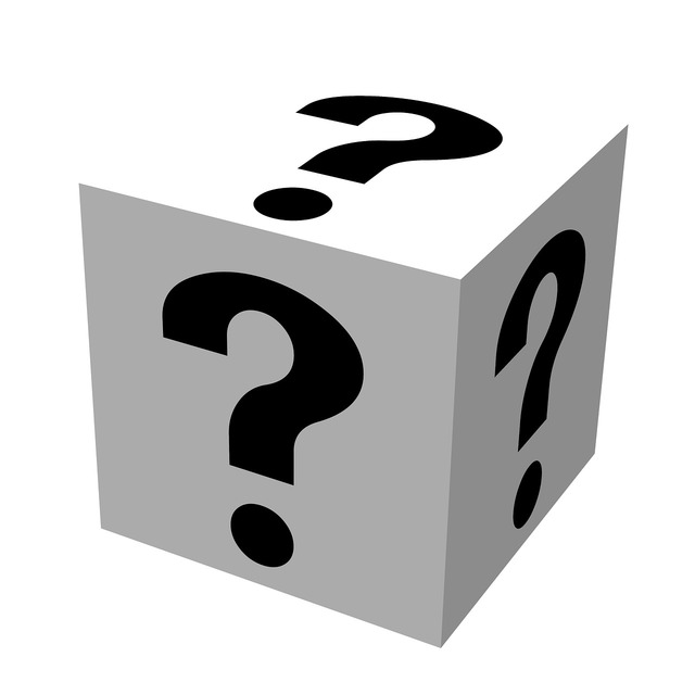 Question mark symbol, business finance.