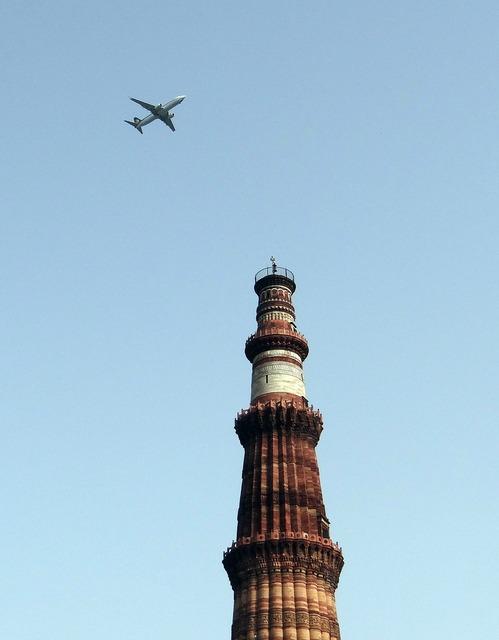 Qutb minar aeroplane qutub minar, architecture buildings.