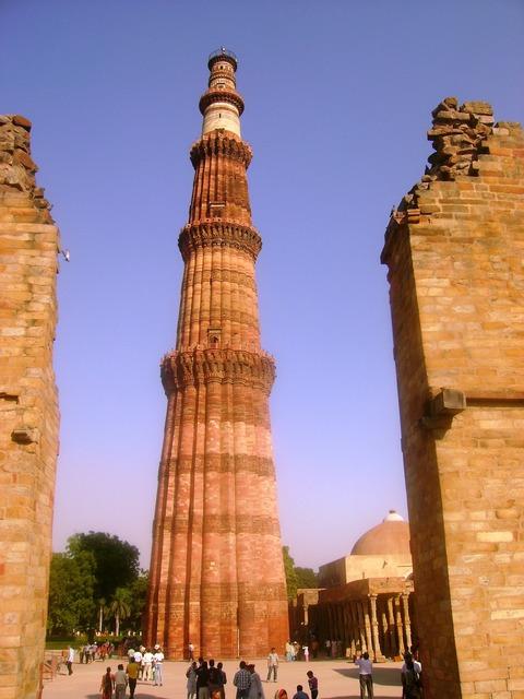 Qutub minar delhi india, places monuments.