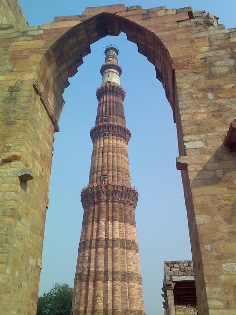 Qutub minar india minaret, architecture buildings.
