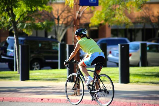 Racing bike biker outdoors, transportation traffic.
