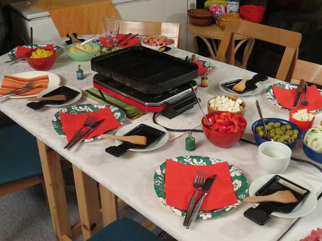 Raclette festival celebrate, food drink.