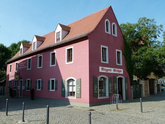 Radebeul cultural heritage monument, architecture buildings.