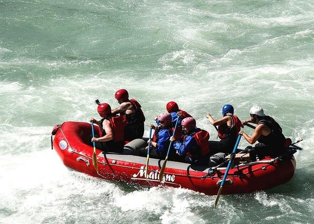Raft whitewater raft boat, sports.