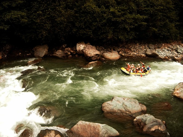 Rafting rapids stream.