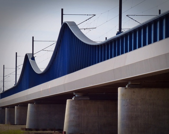 Railway bridge architecture bridge, architecture buildings.