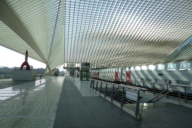 Railway station liege liège, architecture buildings.