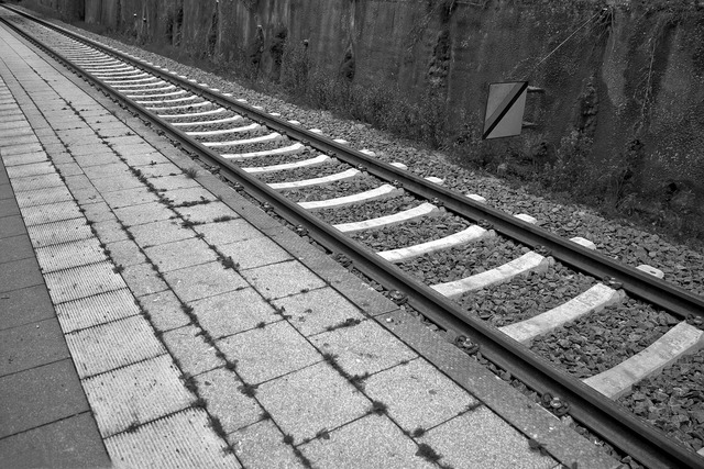 Railway station track seemed.