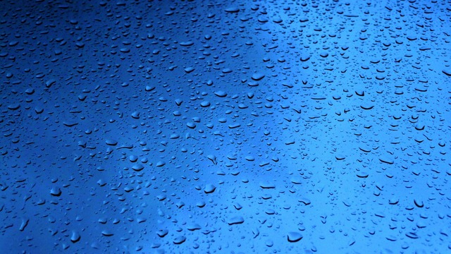 Rain drops glass.