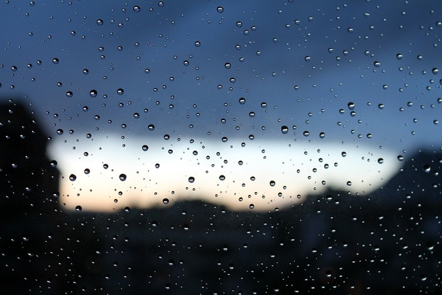 Rain drops water.