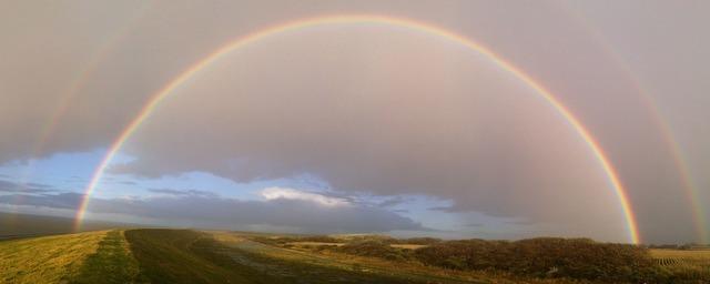 Rainbow föhr island, nature landscapes.