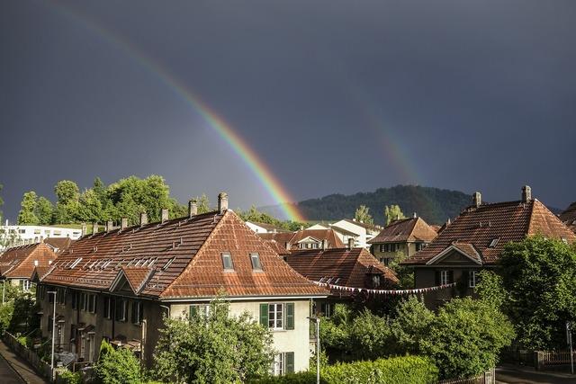 Rainbow home bern, architecture buildings.