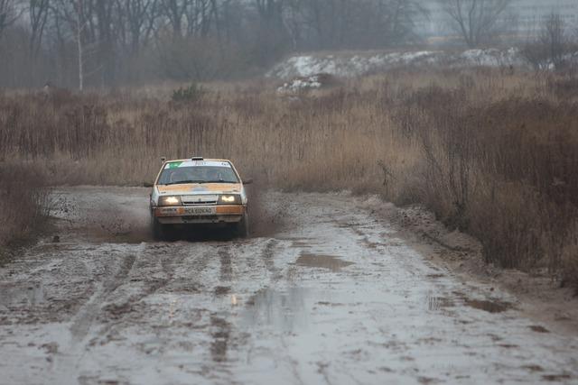 Rally auto racing, transportation traffic.