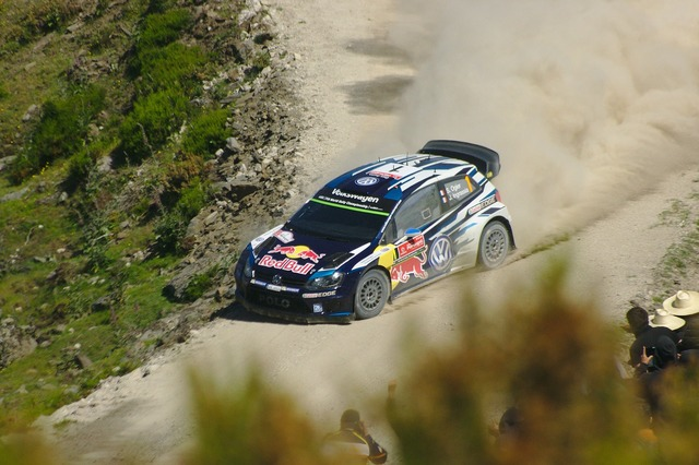 Rally volkswagen vw polo.