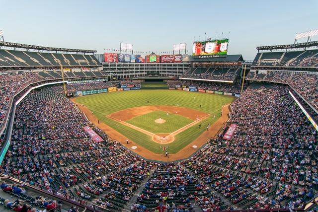 Rangers ballpark baseball, sports.