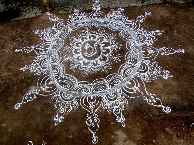 Rangoli tradition dharwad, backgrounds textures.