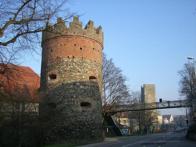 Ravensburg downtown middle ages, architecture buildings.