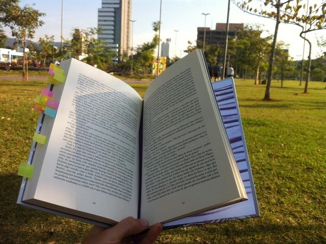 Reading park book.