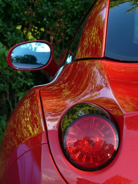 Rear mirror back light auto, transportation traffic.