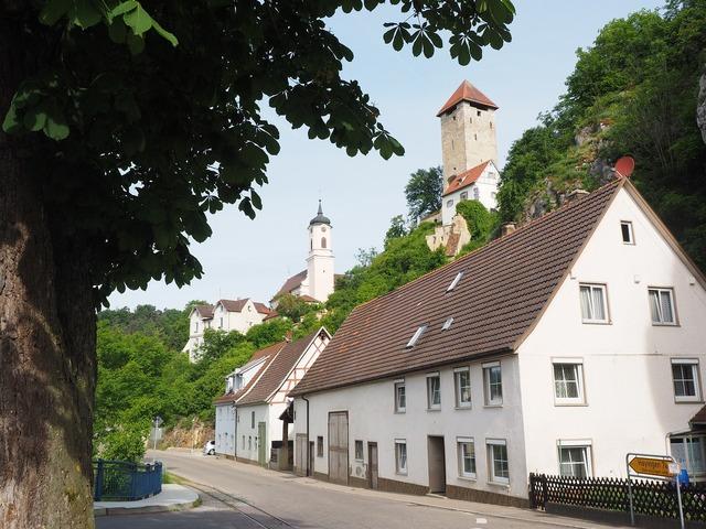 Rechtenstein village swabian alb.