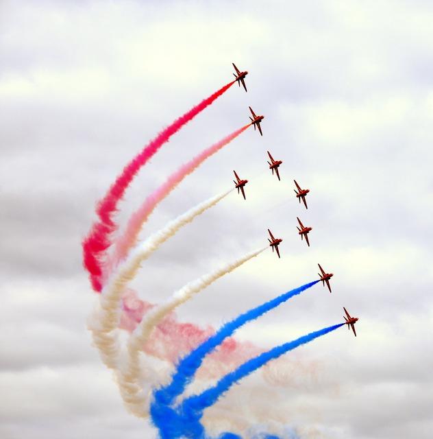 Red arrows farnborough air show.