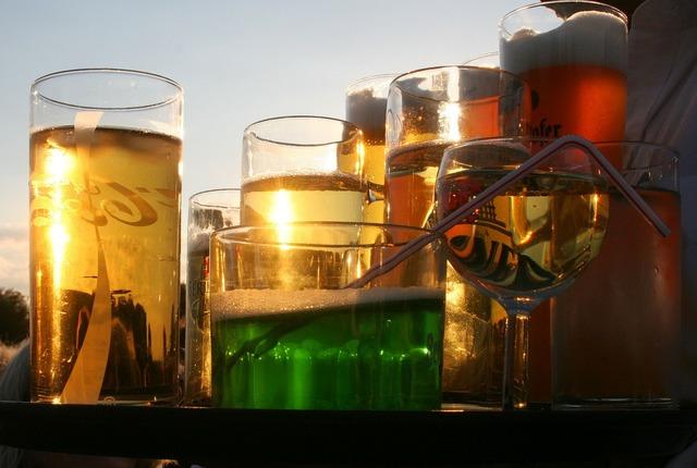 Refreshment glasses beverages.