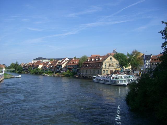 Regnitz river small venice, architecture buildings.