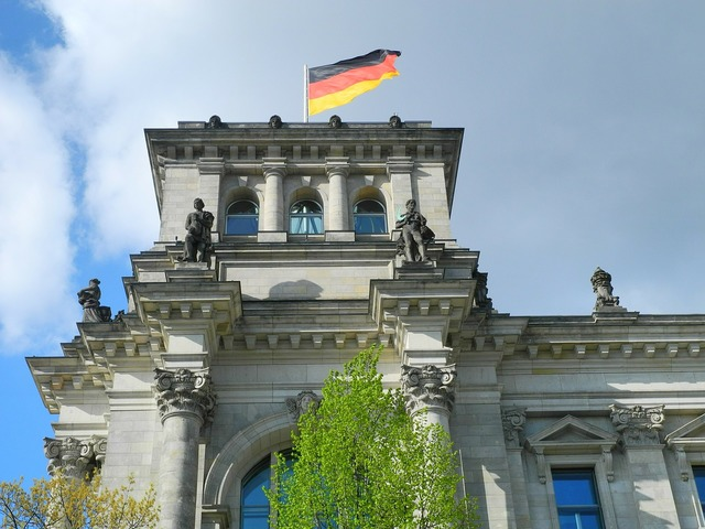 Reichstag berlin government district.