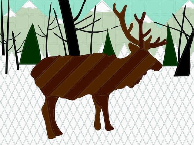Reindeer deer snow, nature landscapes.