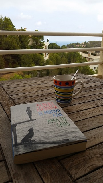 Relax reading coffee, travel vacation.