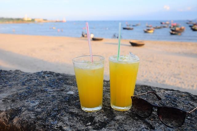 Relax sea beach, travel vacation.