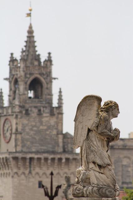 Religion angel statue, religion.
