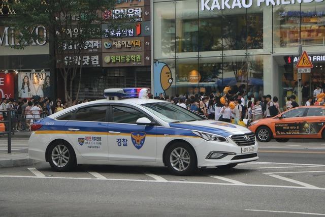 Republic of korea police police car, transportation traffic.