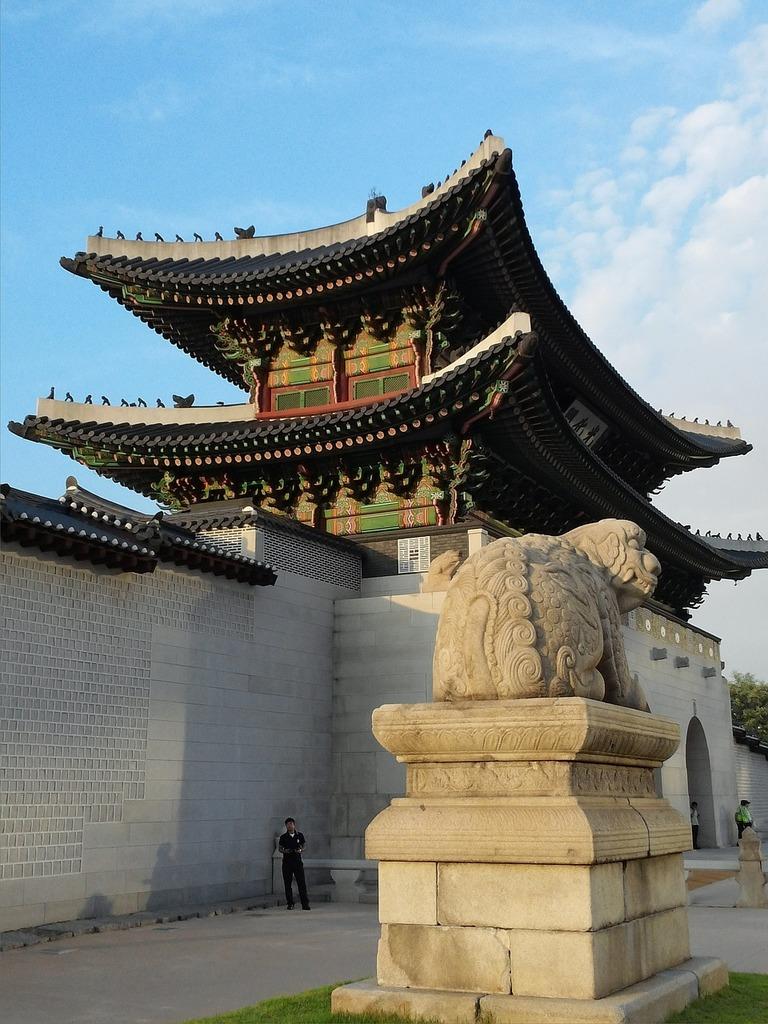 Republic of korea seoul gwanghwamun, architecture buildings.