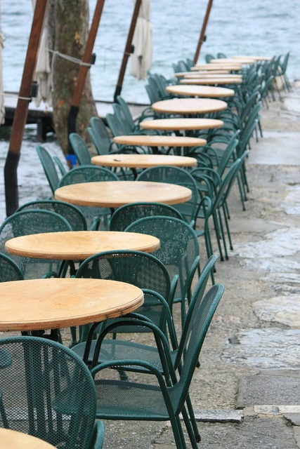 Restaurant dining tables chairs.
