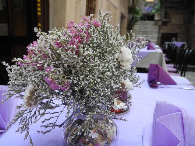 Restaurant lavender purple.