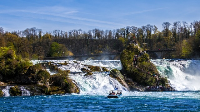 Rhine falls waterfall schaffhausen, travel vacation.