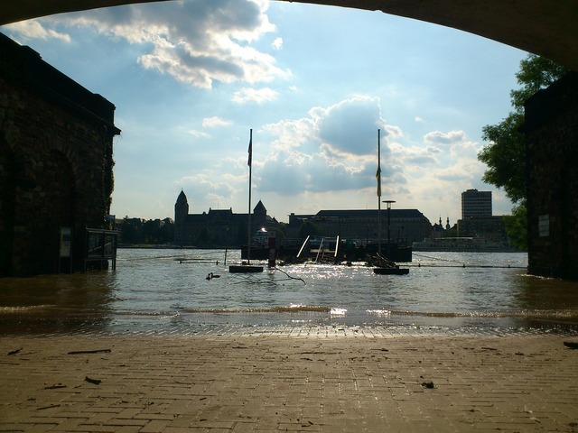 Rhine koblenz high water.
